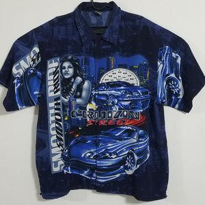 Other - Vtg 90s Cruizin Low Mens XL Street Racing Shirt